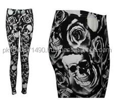 Custom Flowers and Jinn Pics design sublimated Printed Tight Fit Leggings/High Quality Sublimation Printed Leggings
