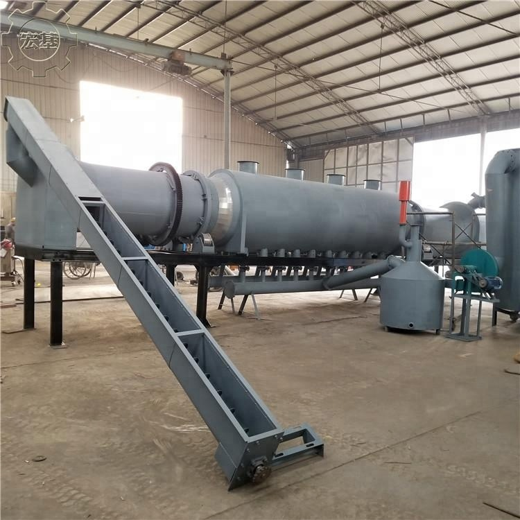 2018 New type Coconut Shell Continuous Wood Charcoal Making Machine