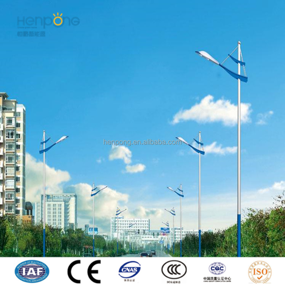 8m double arm octagon street light pole number for road