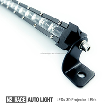 N2 RACE AUTO IP68 waterproof extra driving lights for cars 26 inch single row led bar light ultra slim for trucks pickup prado