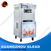 Commercial vending low fat soft ice cream / gelato machine