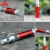 compass mini led light Aluminium alloy security whistle