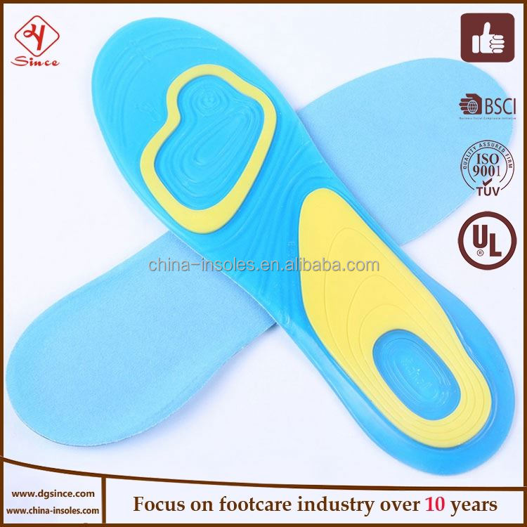 China supplier silica gel lift tpe insoles