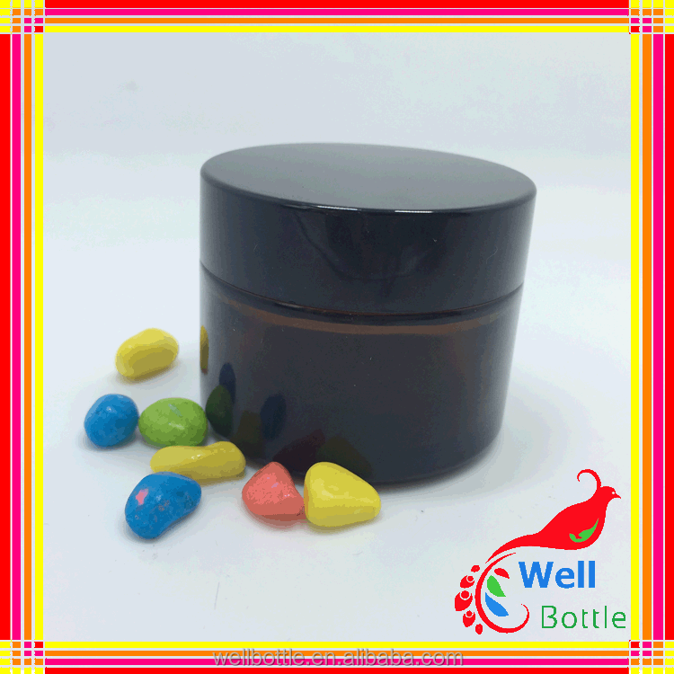 black glass frosted glass jar with wood lid