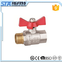 ART.1018 Full port size DN 20 1 inch nickle plated new bonnets heavy weight low price for water brass ball valve in STA Valve
