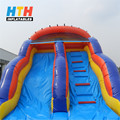 Factory price inflatable wave water slide with pool for sale
