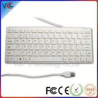 white color slim wired tablet keyboard from shenzhen factory