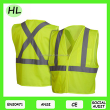 High quality best safety clothing reflective material work wear safety vest reflective vest meet EN471 ANSI