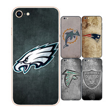 NFL Logo Phone Case for iPhone 8 UV Prints Customize Back Cover Cases Super Thin Soft TPU Cover for iPhon 6 7 8 Plus Series Capa