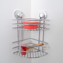 Metal wire bathroom 2-tier suction rack