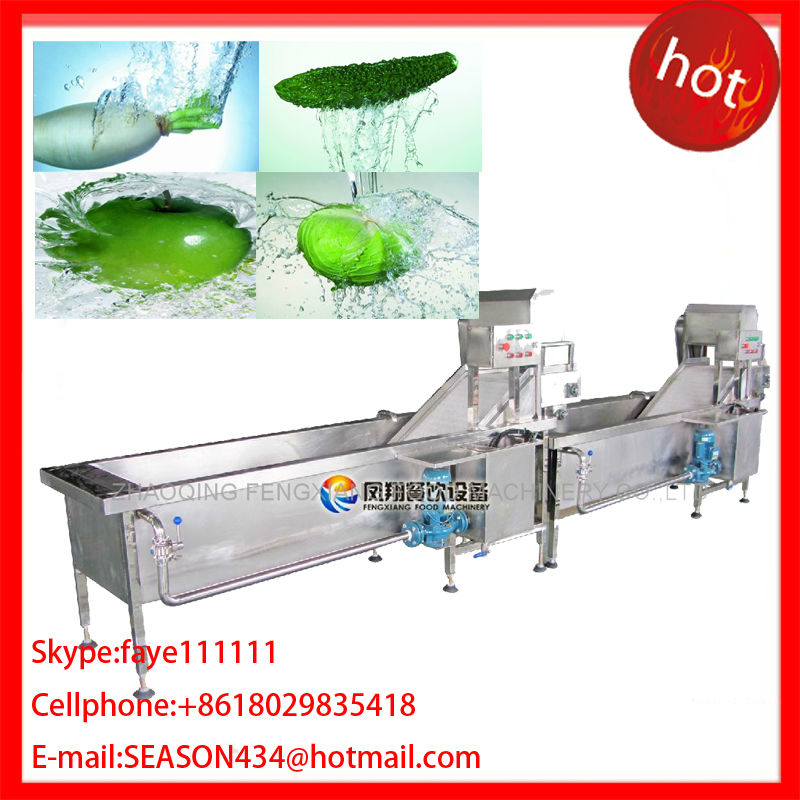 DBWA-1000 Automatic Electrical Vegetable & Disinfection Line, vegetable and Bamboo dish washing machine