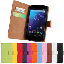 China Wholesale Flip Phone Case for LG Nexus 4 E960 Phone Case for LG Nexus 4 E960 with Card Slot and Stand