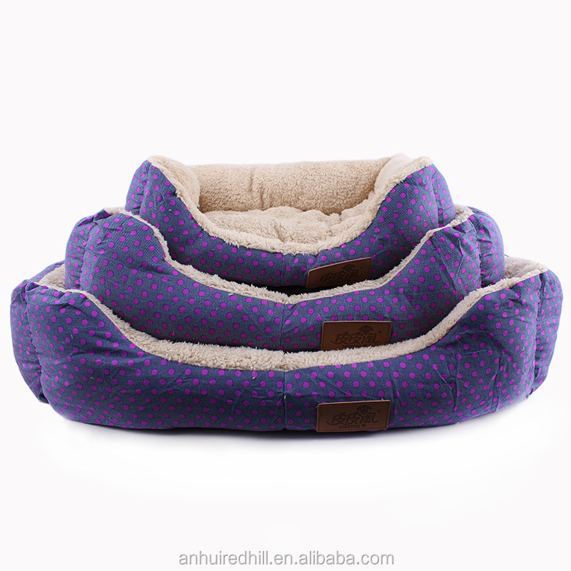 Deluxe Cute and Plush Rectangle Dog Bed
