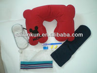 travel kit,travel set,eye mask,pillow,earplug,eyeshade