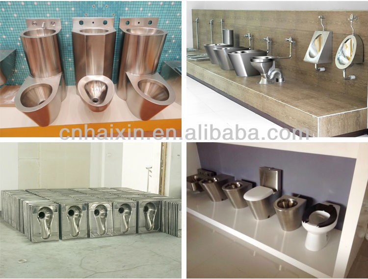 Stainless Steel 304 Combination Toilet