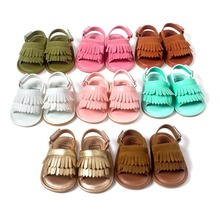 Hot Sale Double Fringe Hard Sole Baby Walking Shoes