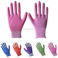 Sunnyhope 13G colored nitrile coated work gloves cheap