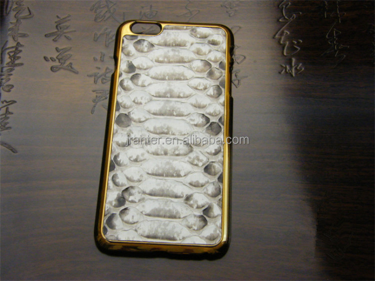 Luxury Python Leather for Iphone 4 Gold Back Cover Manufacturers