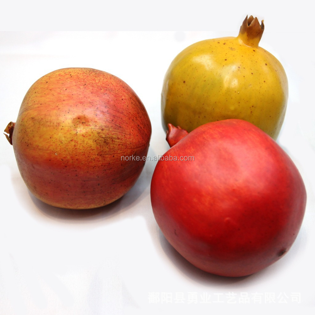 3 Hotsale Artificial Pomegranates Fruit Fake Fruits Faux Fruit