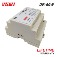 WODE High Quality Industrial Mini DR Series 110V/220V Din Rail Power Supply 60W 48V