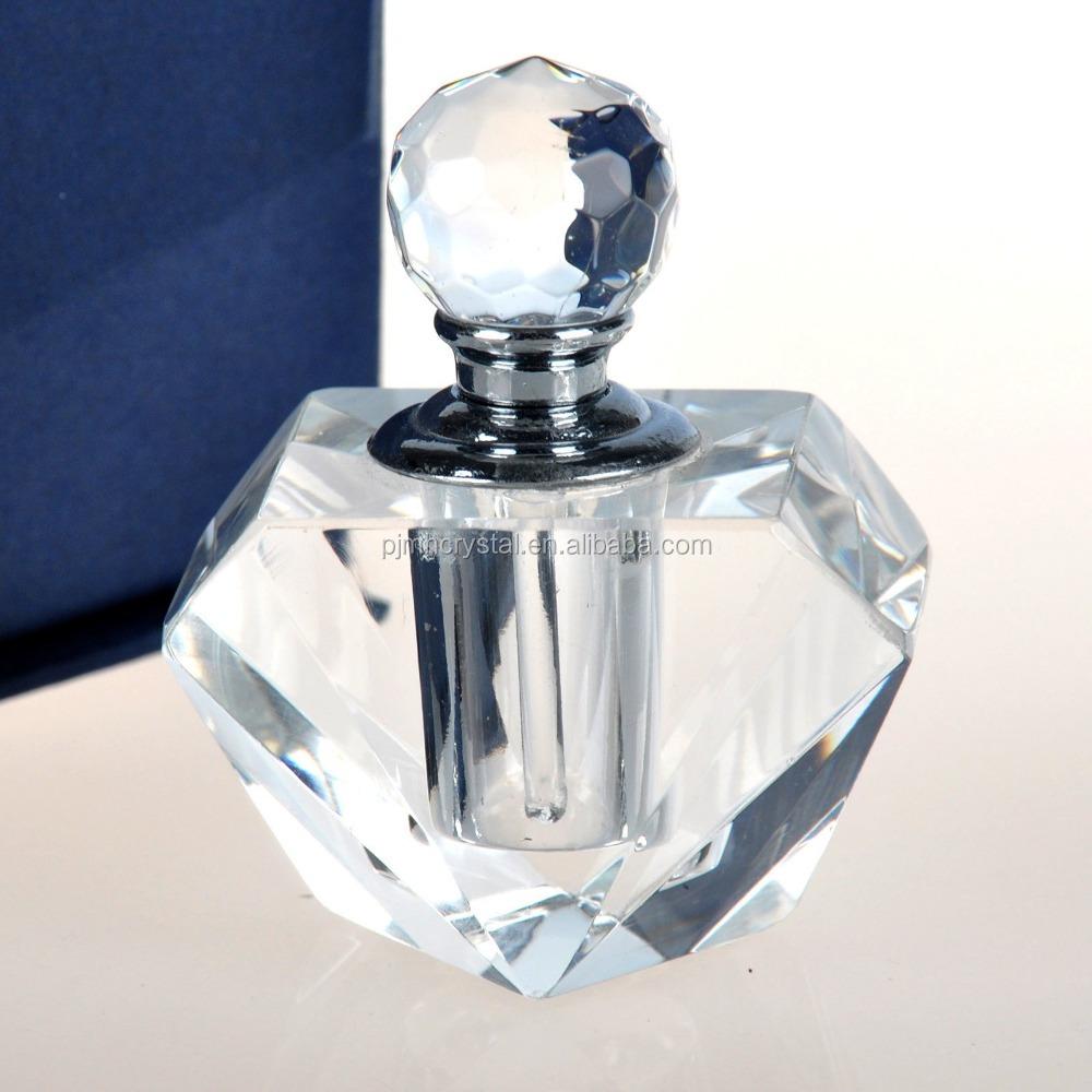 Beautiful crystal perfume bottle glass