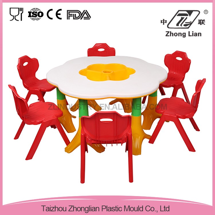 Top quality plastic childrens table and chairs
