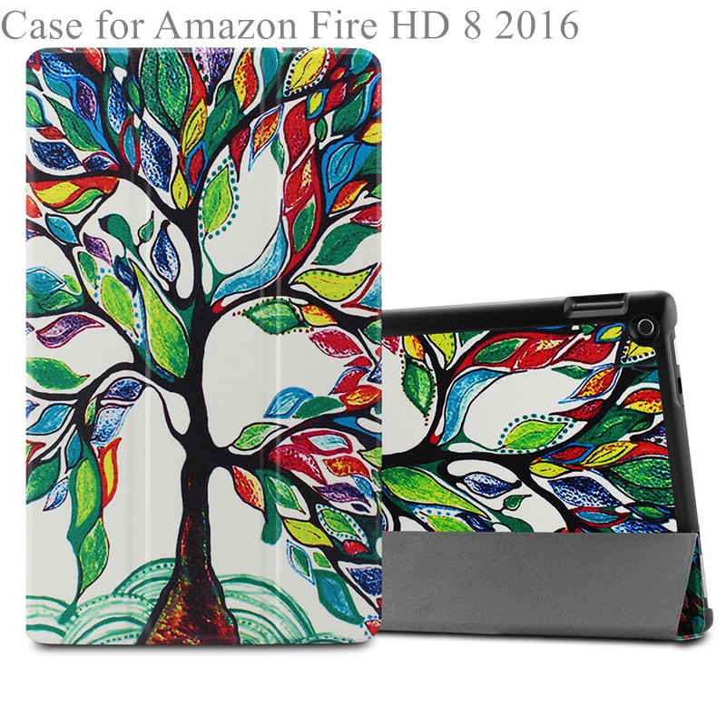 2016 new tablet case for 8.9 inch device tri-fold Stand Cover For All-New Fire HD 8