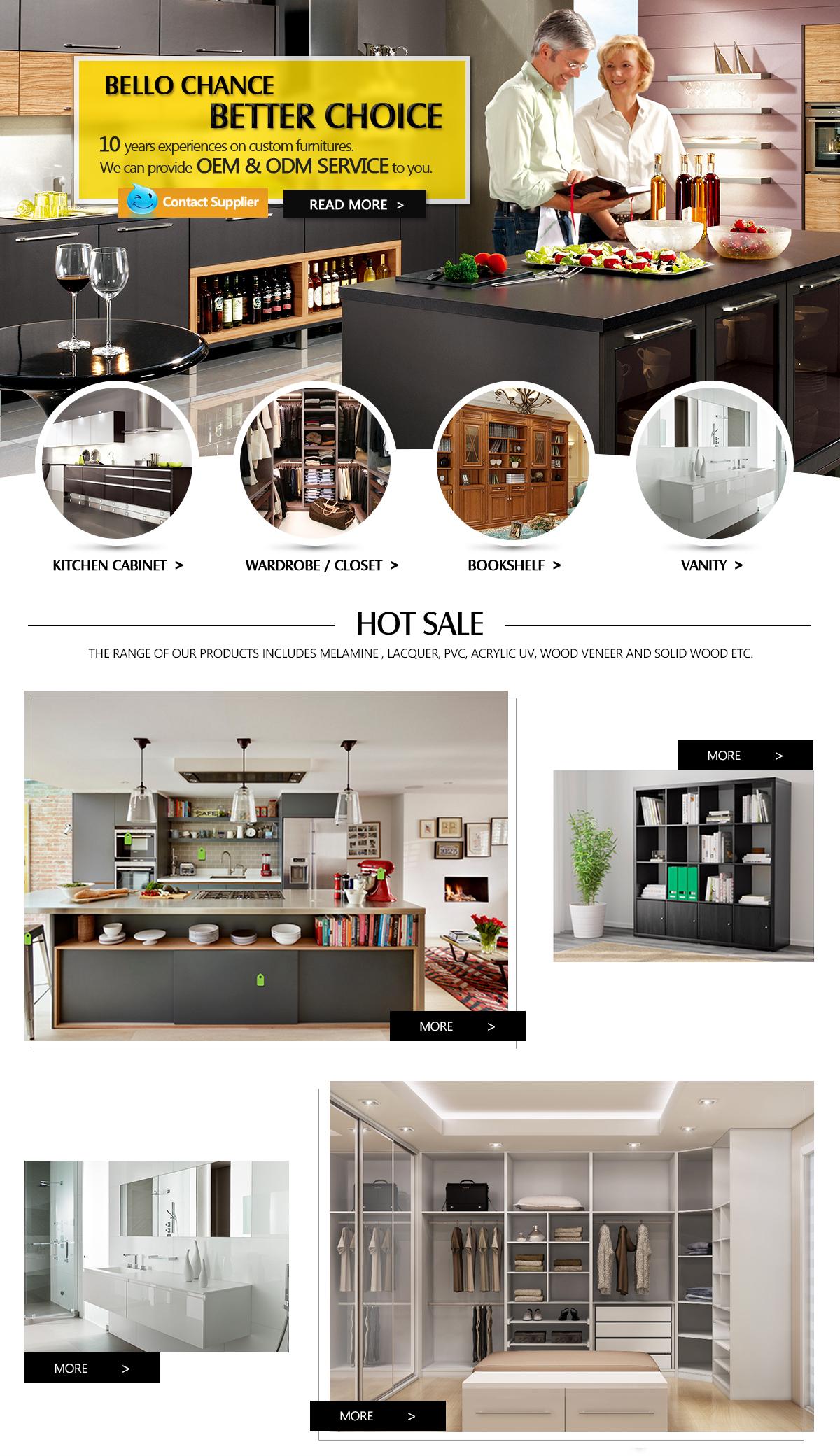 Foshan Bello Chance Housing Co., Limited - kitchen cabinets, wardrobes