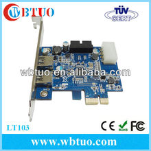 USB 3.0 2-Port PCI-E Expander Card with Internal USB 3.0 20-Pin Motherboard Male Header