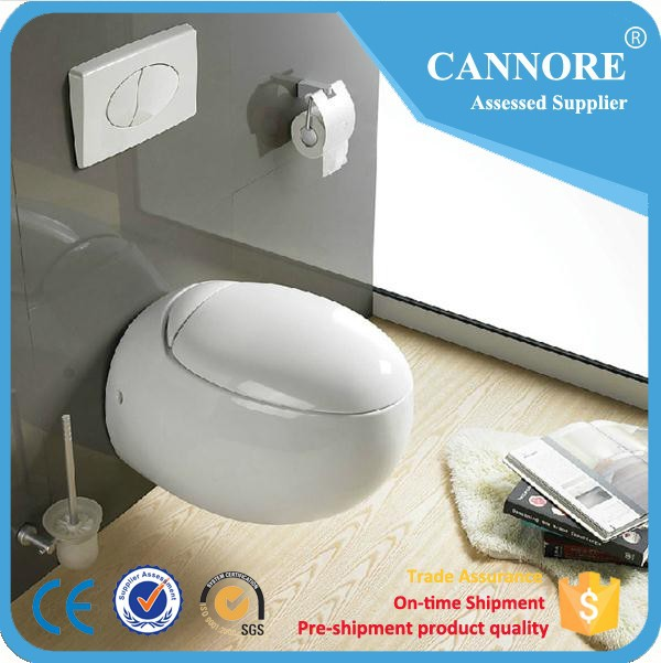 CE EUROPEAN BATHROOM CERAMICS WALL HUNG TOILET