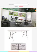 6ft camping table and chairs set