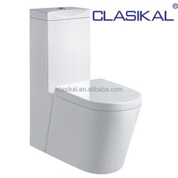 CLASIKAL Sanitary Ware Floor Mounted Toilet Ceramic WC Bathroom Washdown one piece Toilet 4inch Hole