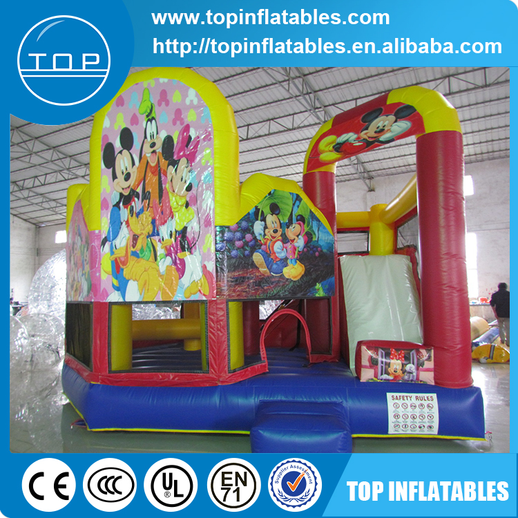 Air bouncer inflatable trampoline combo,inflatable jumper bouncer with slide