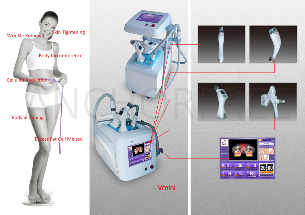 Vacuum Bipolar RF 940nm Laser Machine for Women's Body Shape CE