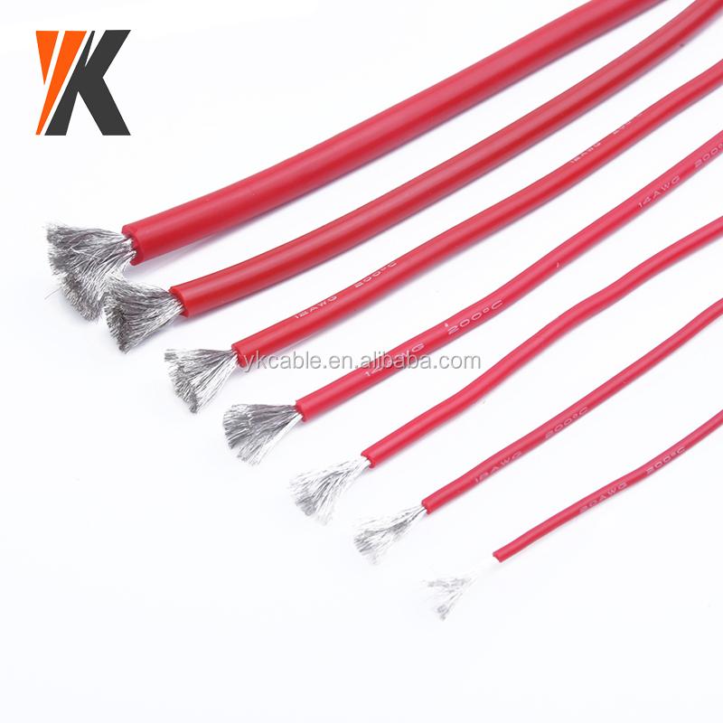 16AWG C/âble /électrique C/âble en silicone R/ésistant aux hautes temp/ératures Doux et flexible Rouge Cuivre toronn/é 10AWG 12AWG 14AWG 16AWG 18AWG 20AWG 22AWG