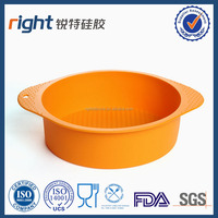 Silicone Round Cake Baking Mold Pastry Brownie Pizza Pie Dessert Pan