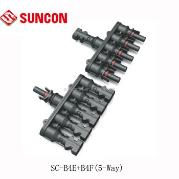 Waterproof solar pv mc4 5-1 joint branch connector ip68 TUV