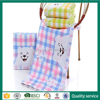 100% cotton gauze kids baby face bath towel cartoon bath towel
