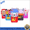 3d cute soft silicone case cover skin for iphone 4