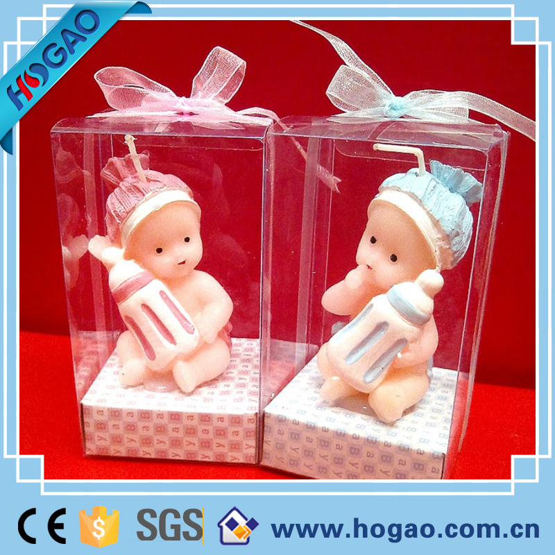 Eco-friendly material cute baby scented birthday candle light molds
