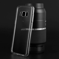 DFIFAN Clear Soft TPU Phone Case, TPU Transparent Back Cover for Galaxy S8 TPU Mobile Cases j7 pro case cover