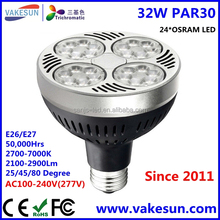 Super Bright LED PAR30 32W 35W 40W 45W Bulb Best Price LED PAR30 AC100-240V 2700-7000K 2700lm 50000 hours E26 E27