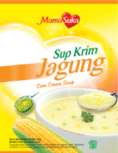 Instant high quality Corn Cream Soup