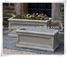 European style rectangular flower planter for garden use