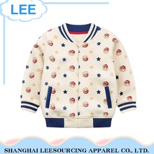 Wholesale Outwear Printed Children White Kids Coats