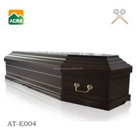 AT-E004 luxury wood coffin box supplier