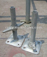 Adjustable screw Jack for building scaffolding
