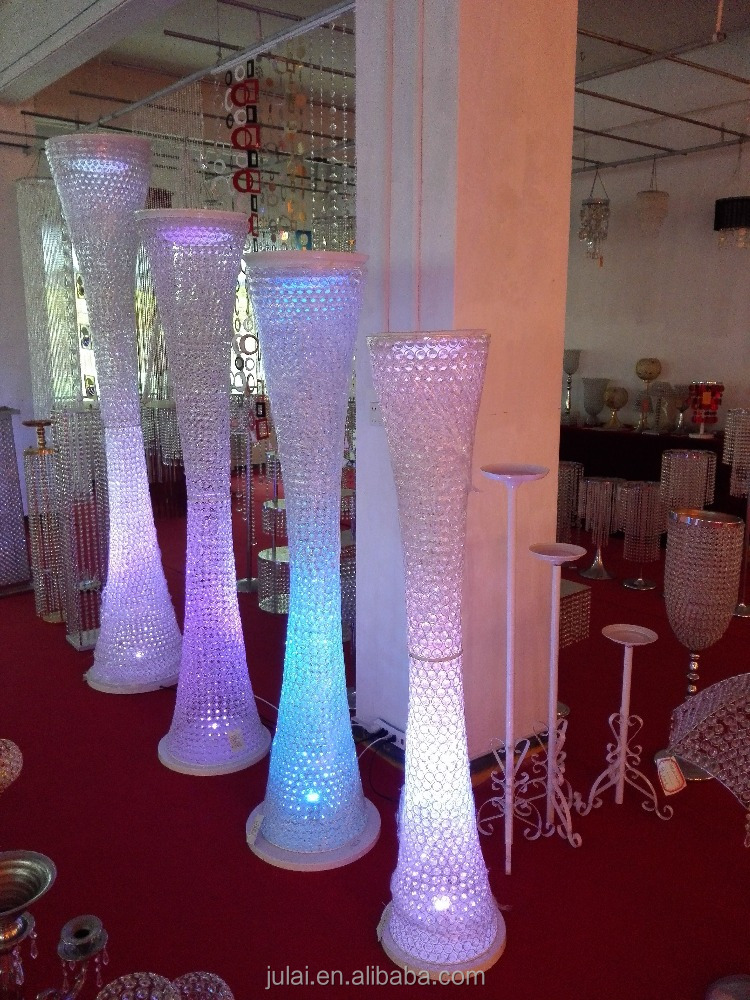 New hot wholesale decorative lighted columns for weddings / wedding columns used wedding decorations / crystal beaded columns