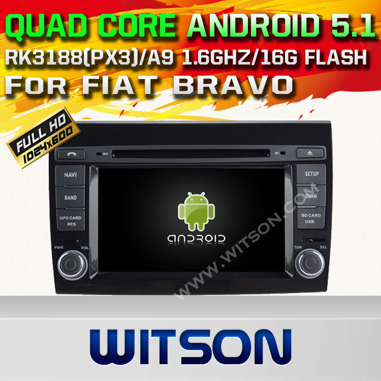 WITSON Android 5.1 CAR DVD PLAY For FIAT BRAVO WITH CHIPSET 1080P 16G ROM WIFI 3G INTERNET DVR SUPPORT