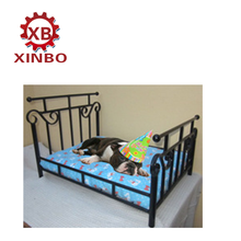 Best selling pet products latest metal frame pet bed luxury wrought iron dog bed with noble cushion